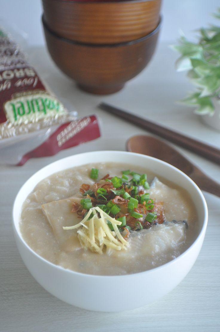 Fish & Abalone Brown Rice Congee using Naturel Organic Brown Rice