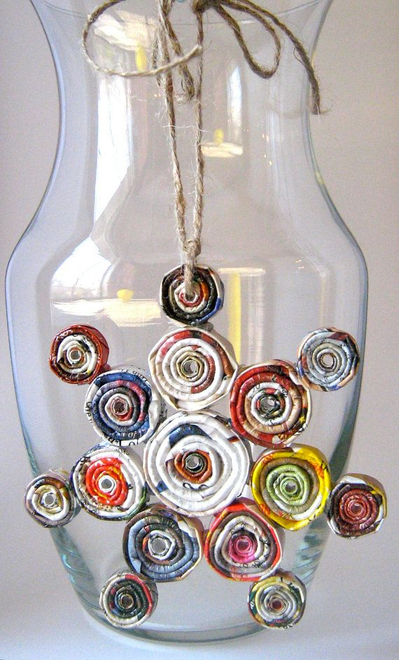 Snowflake Christmas Ornament from Coiled Paper Beads by vickieheld, $10.00