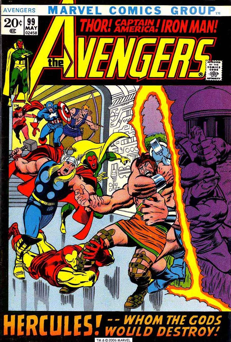 Avengers 99 August 1972 Issue Marvel Comics Grade By ViewObscura