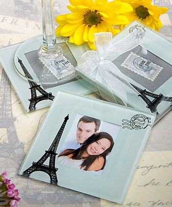 From Paris With Love Collection Glass Coaster Set