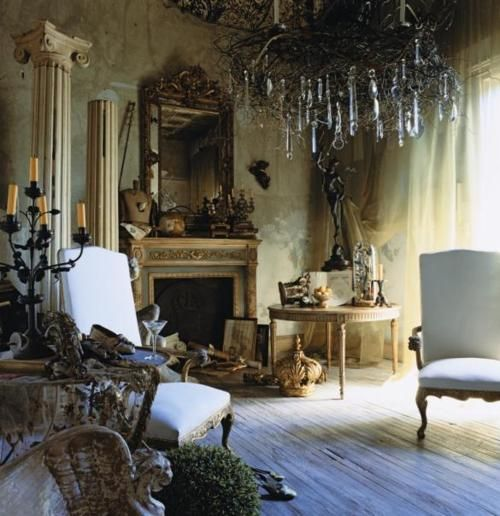 Twig and crystal chandelier. Reminds me of Great Expectations...Decor, Crystals Chand, Livingroom, Old World Style, Living Room, Mary Claire, Trees Branches, The Addams Families, Good Air