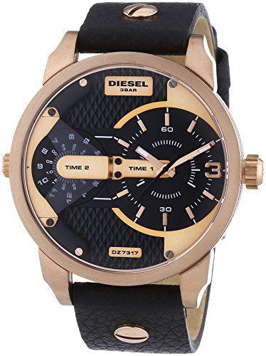 Diesel Herren-Armbanduhr Mini Daddy Analog Quarz Leder DZ7317 - http://uhr.haus/diesel/diesel-herren-armbanduhr-mini-daddy-analog-quarz