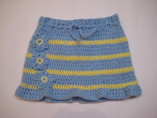Ema's Decorations: Crochet Skirt - Pattern for 5-6 years girl