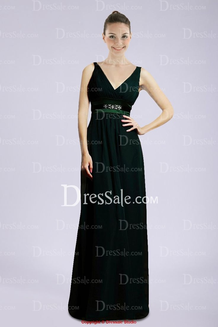 10 best bridesmaid dresses images on pinterest marriage wedding modest dark green chiffon bridesmaid dress with v neckline ombrellifo Choice Image