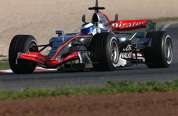 Mika Hakkinen McLaren Mercedes test.