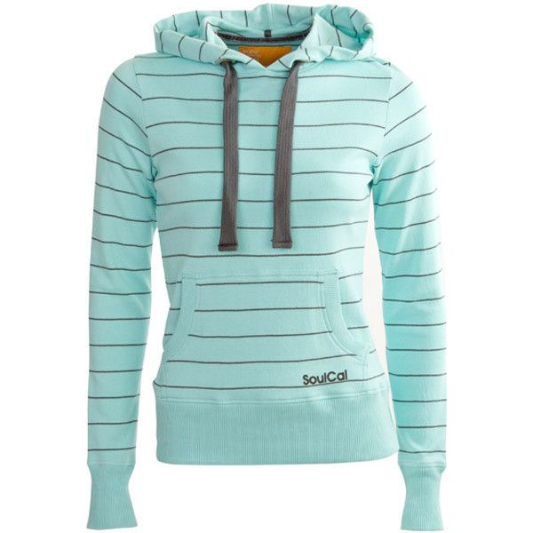 Soul Cal Reverse Striped Hoody featuring polyvore fashion clothing tops hoodies jackets outerwear sweaters womens sweats green striped top striped hoodies green hoodies striped hoodie green hoodie