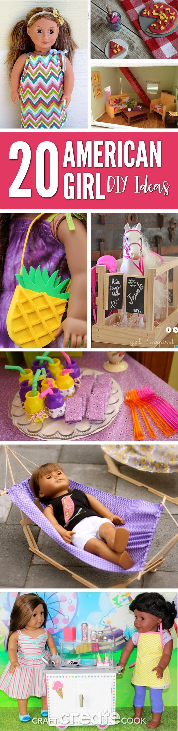 Your American Girl Doll will love these fun and easy DIY ideas! via @Craft Create Cook