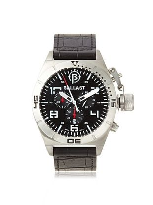 62% OFF Ballast Men's BL-3121-02 Amphion Black/Silver Stainless Steel Watch