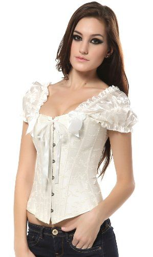 Ivy Shi Women's Overbust Corset Top With Ruched Sleeves Ivories Large Ivy Shi,http://www.amazon.com/dp/B00CTUVDR8/ref=cm_sw_r_pi_dp_8V44sb0GX9ADW71V