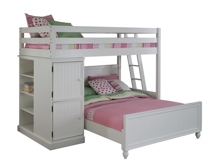 Colorworks White Loftbed With Full Bed Value City Furniture