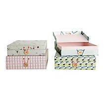 House Doctor opbergdoos (set van 4) roze/wit/blauw/geel