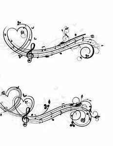 back of neck tattoo music staff - Google Search