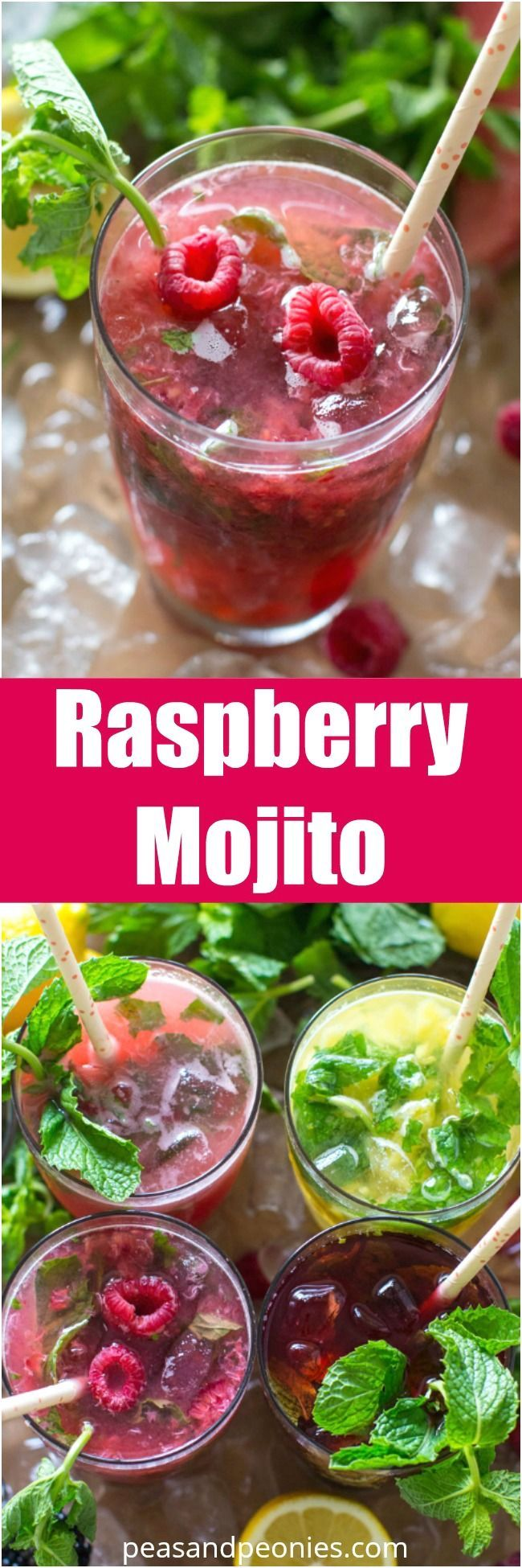 Fruit Mojitos are so easy to make, they are also pretty and refreshing, the perfect summer drink. Raspberry Mojito made with fresh raspberries.