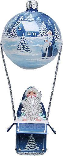 Reveillon (Shades of Blue/ White/ Jeweled) Patricia Breen Designs (Balloon, Santa, Blue, White)