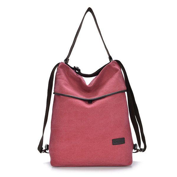 Brand HAOLISHI Women Casual Canvas Shoulder Bag Leisure Crossbody Bag Outdoor Backpack