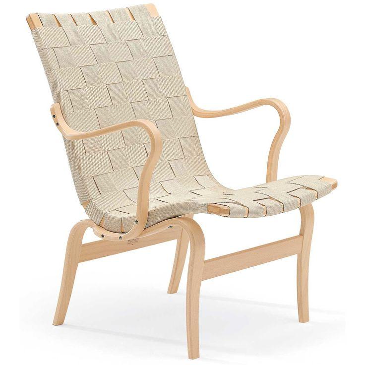 Eva lenestol designet av Bruno Mathsson er en sann designklassiker. Lenestolen er nett, svært b...