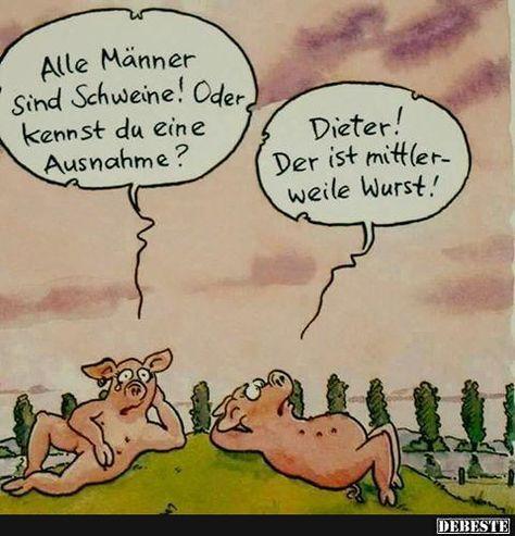 Alle Männer sind Schweine.. | Lustige Bilder, Sprüche, Witze, echt lustig