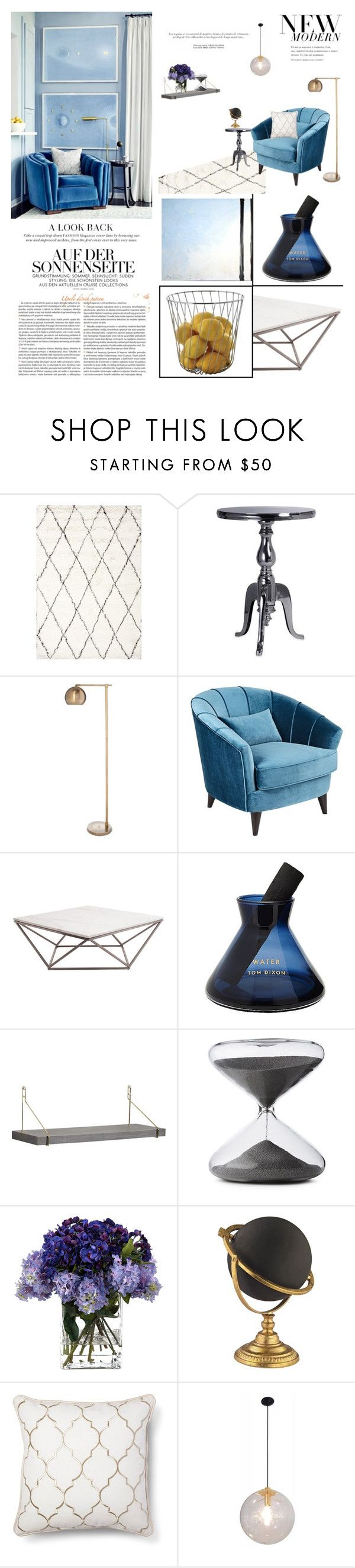 """""""OCEANIC"""" by ironono ❤ liked on Polyvore featuring interior, interiors, interior design, home, home decor, interior decorating, nuLOOM, Dot & Bo, Threshold and Universal Lighting and Decor"""
