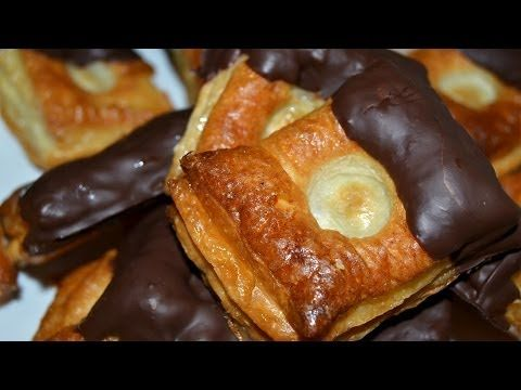 Puff Pastries with Chocolate & Honey - Easy Puff Pastry Dessert Recipe - YouTube