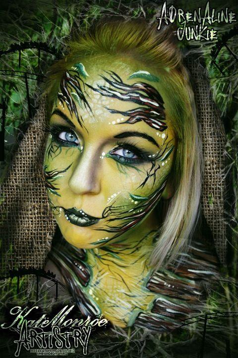 Adrenaline junkie Thirteen Th13teen Alton Towers Theme Park Roller coaster face paint body art | http://paintbodyideas.blogspot.com