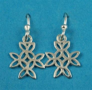£14.00 incl tax  Sterling silver Celtic style cross earrings.  Approx 2cm drop.
