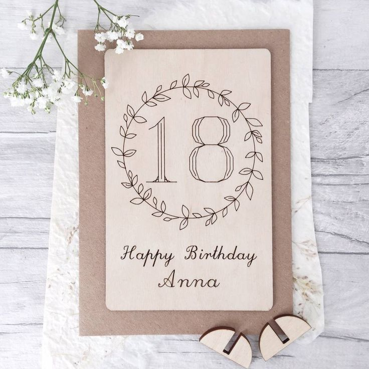 Personalised 18th Birthday Wooden Card 18th birthday