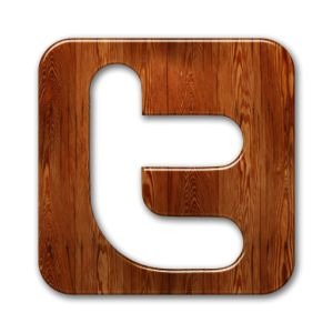 Wood grain social media button