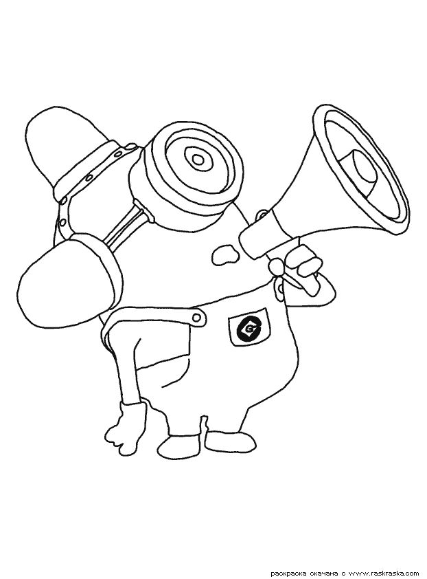 minion colouring pages