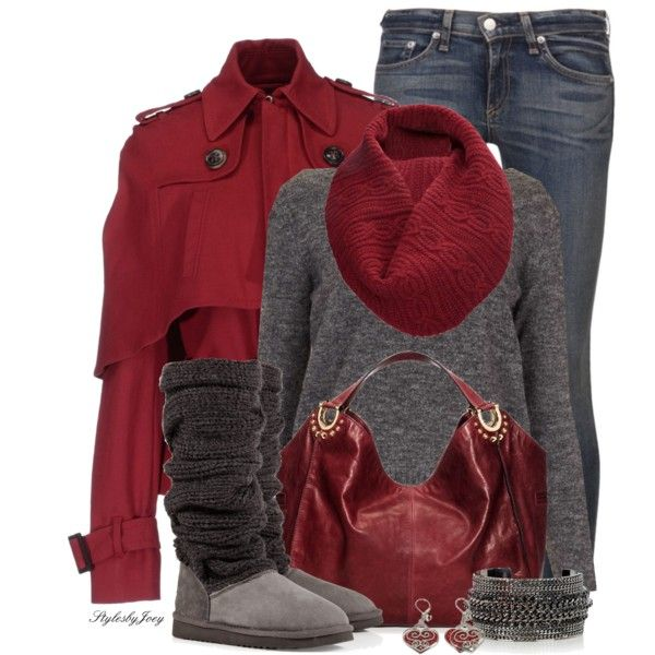 Winter Outfits | Cranberry n' Charcoal | Fashionista Trends
