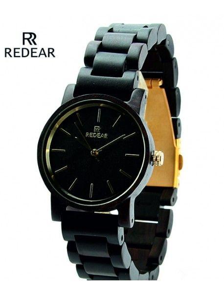 Hölzerne Armbanduhren für Frauen Artikel-Nr.:  DH00009 -BLACK** REDEAR Zustand:  Neuer Artikel  Verfügbarkeit:  Auf Lager  Elegante hölzerne Uhr mit einem einzigartigen Design. Geschenk fit für einen Mann und eine Frau. Uhren sind aus natürlichen Materialien, ohne künstliche Farbstoffe