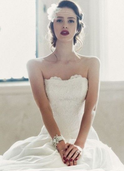 Trucco labbra intenso e smalto rosso per la sposa 2014