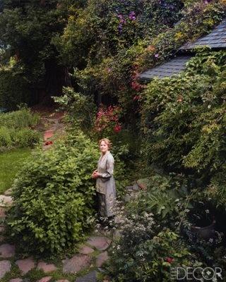 """""""Alice Waters in her garden in Berkeley, California."""""""