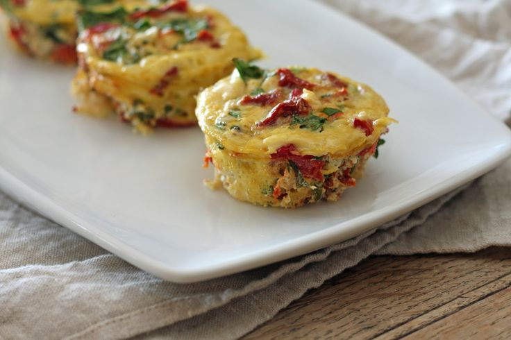 Mini Spinach and Feta Frittatas | Gluten Free Food | Pinterest
