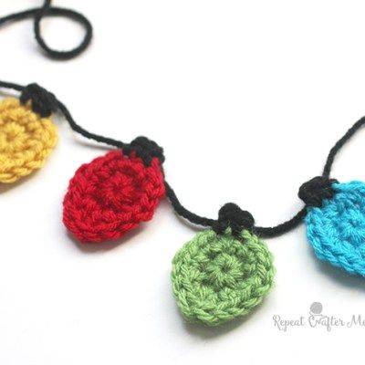 Crochet Christmas Light Appliques