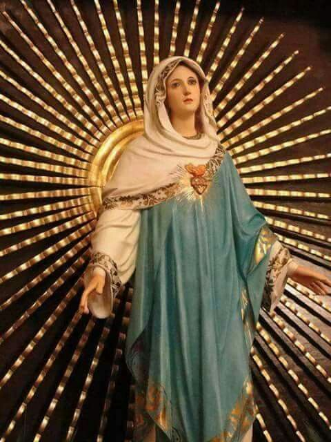 Stralende maria