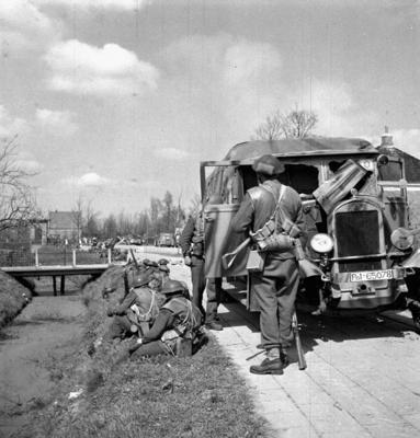 Canadians near Groningen, The Netherlands, 14 April 1945.