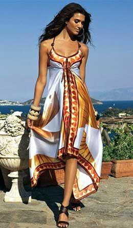 Patrón vestido de pañuelos