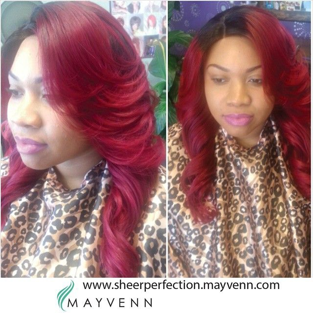19 best red hair images on pinterest black hairstyles colourful mayvenn hair in dark roots and a red ripple pmusecretfo Image collections