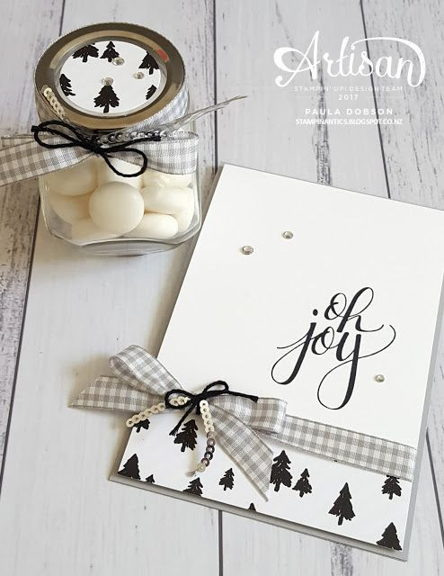 Get creative with your old jars and breathe new life into them by repurposing - Paula Dobson  #pauladobson #stampinantics #letsgethopping #watercolorchristmasstampset