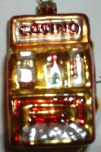 casino slot machine christmas ornament
