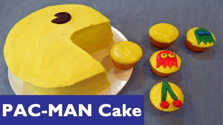 How to Make a PAC-MAN Cake and PACMAN Cupcakes