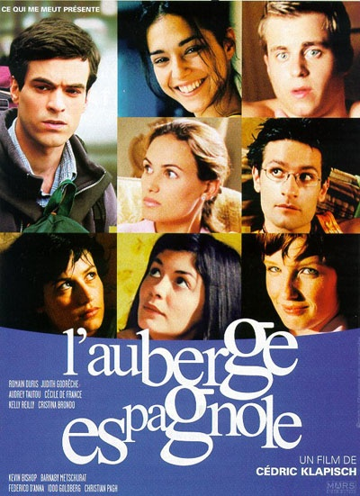 ROMAIN DURIS, AUDREY TAUTOU, CECILE De FRANCE dans L'auberge espagnole. Signé Cédric Klapisch (2002)