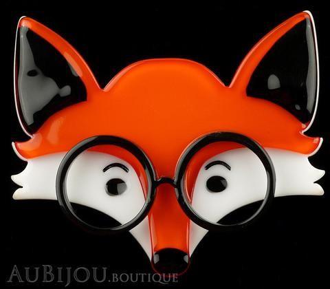Erstwilder Brooch Pin Oscar Wildenfox Fox Orange Gallery