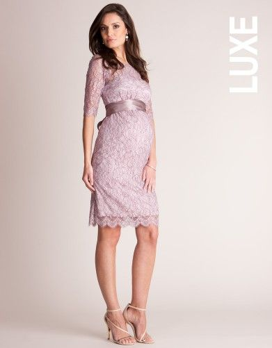 Luxury Blush Pink Lace Maternity Cocktail Dress | Seraphine Maternity