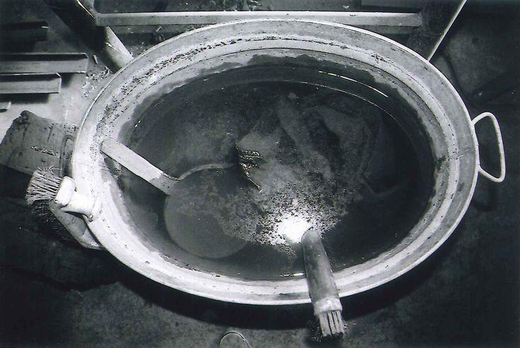 Smithy, Arlöv, Sweden. Cooling & isolating metal.