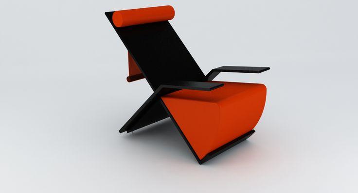 chaise longue c/s bracc.