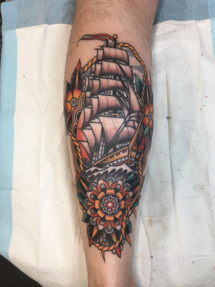 My Clipper Ship by Ben Rorke Tradition Tattoo Brisbane