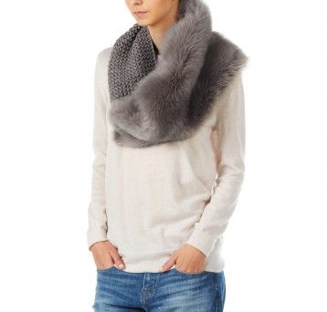 Gushlow and Cole - Hand Knit Shrug - Lady Grey Shearling Toscana Merino Wool