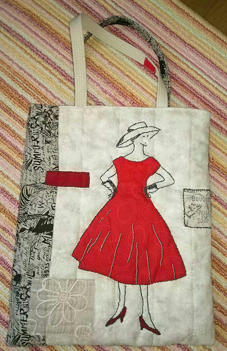小関鈴子先生の本を参考に♪ #小関鈴子先生 #bag #キルト#パッチワーク