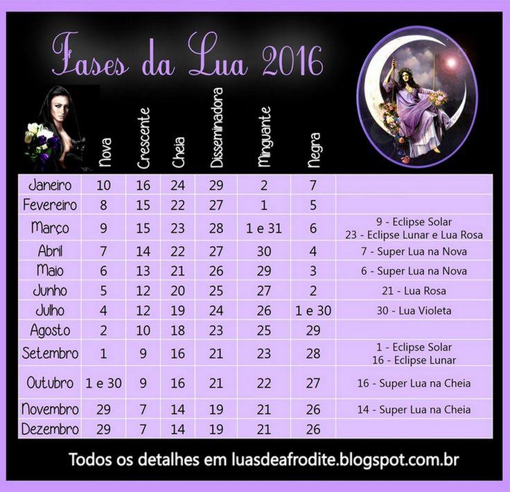 luas de afrodite calendário fases da lua 2016 lua 2016 afrodite luas ...